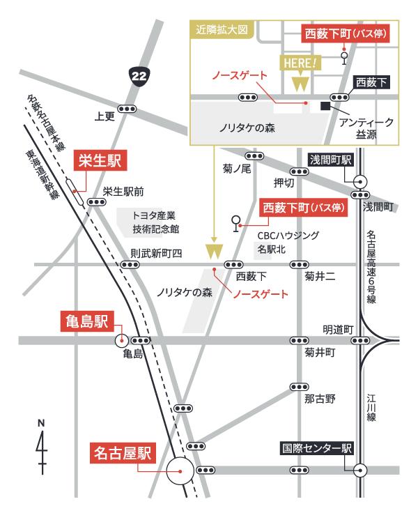 デンタルオフィスノリタケ地図
